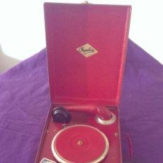 Gramófonos y gramolas: GRAMOFONO ORPHEE, EXCELENTE ESTADO, FUNCIONANDO CON DISCOS Y CAJA DE AGUJAS. Lote 48126729