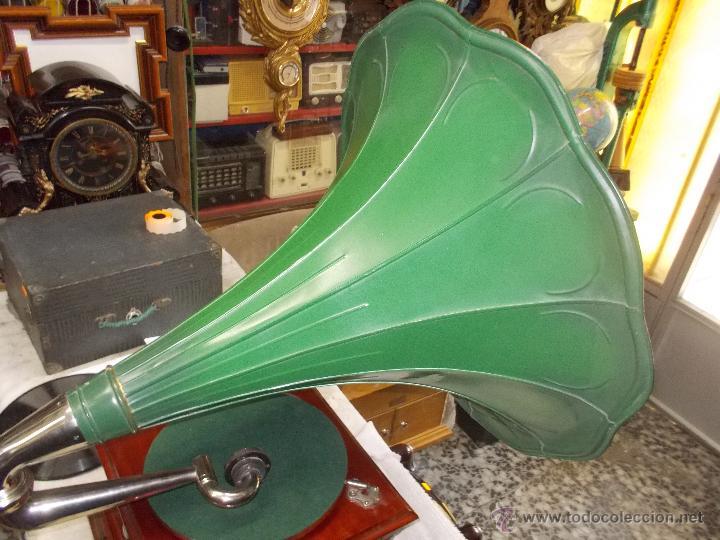 Gramófonos y gramolas: Gramofono de La voz de su amo funcionando - Foto 15 - 48388492