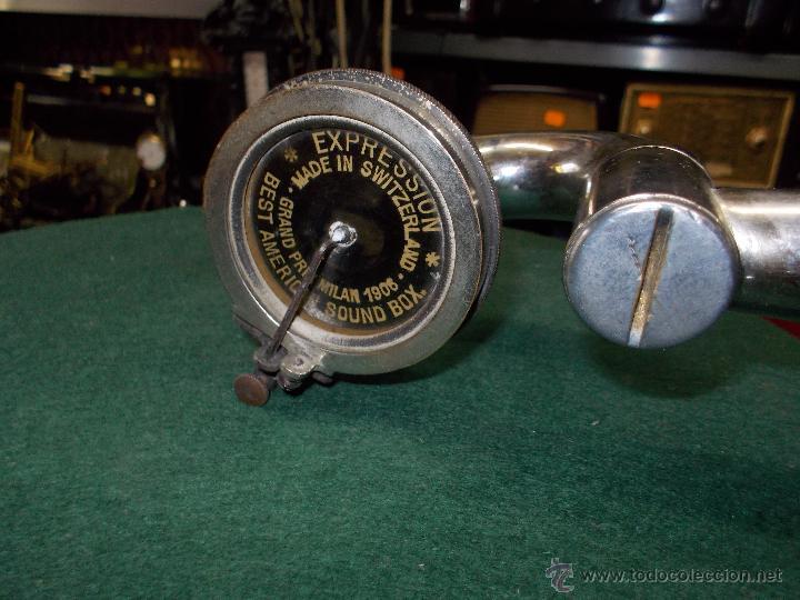 Gramófonos y gramolas: Gramofono de La voz de su amo funcionando - Foto 28 - 48388492