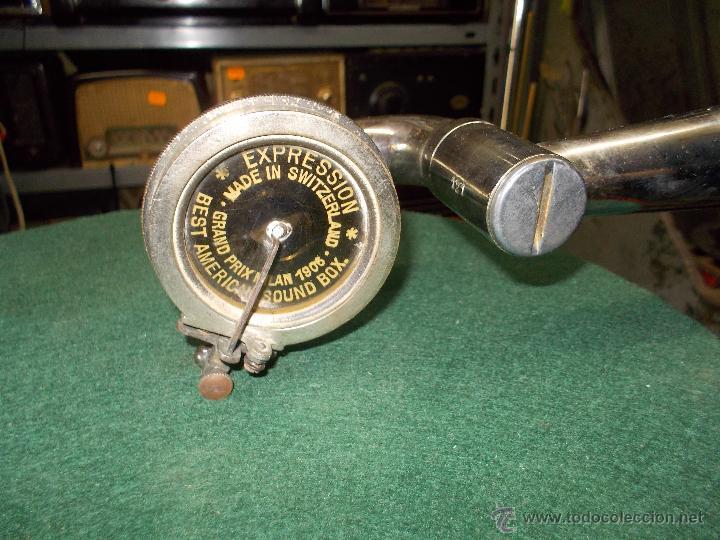Gramófonos y gramolas: Gramofono de La voz de su amo funcionando - Foto 31 - 48388492
