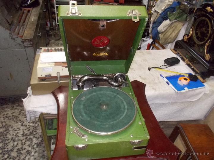 GRAMOLA GOLDRING FUNCIONANDO (Radios, Gramófonos, Grabadoras y Otros - Gramófonos y Gramolas)
