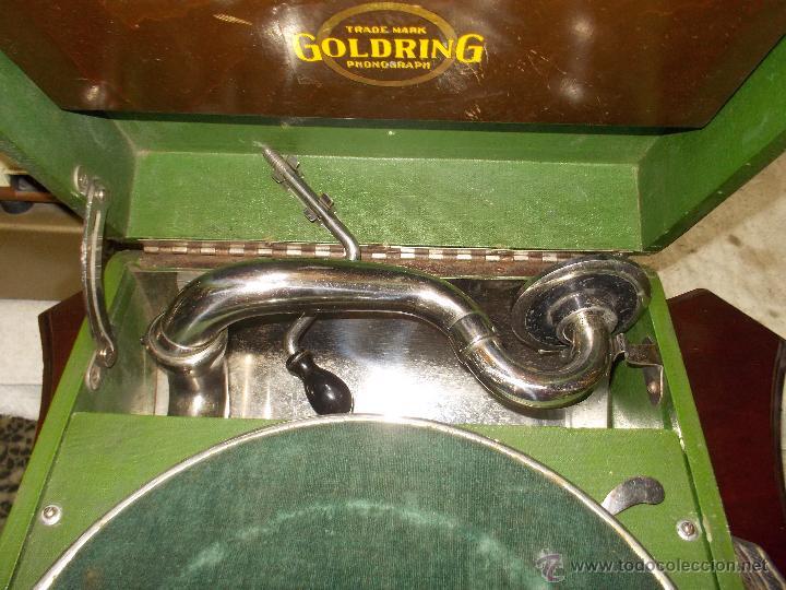Gramófonos y gramolas: Gramola Goldring funcionando - Foto 7 - 50235375