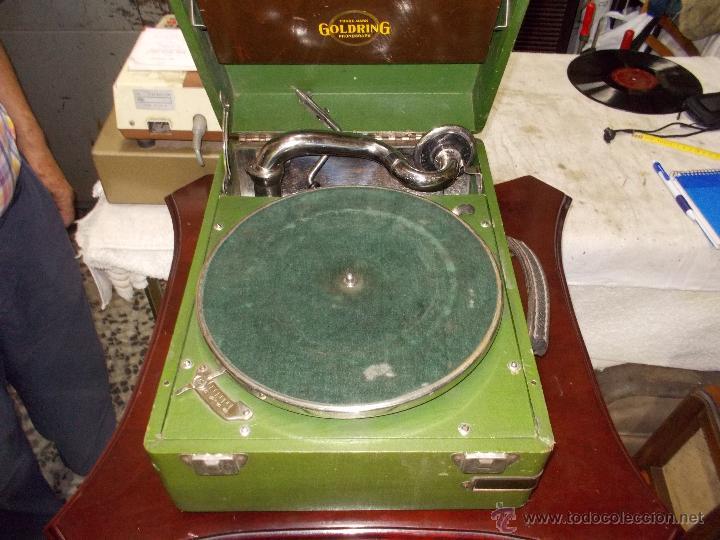 Gramófonos y gramolas: Gramola Goldring funcionando - Foto 8 - 50235375
