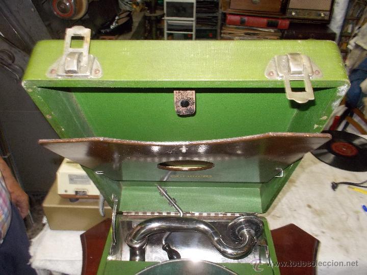 Gramófonos y gramolas: Gramola Goldring funcionando - Foto 9 - 50235375