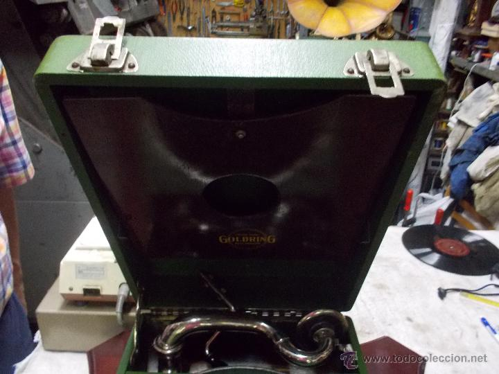 Gramófonos y gramolas: Gramola Goldring funcionando - Foto 11 - 50235375