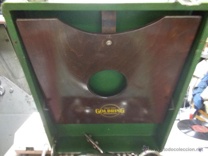 Gramófonos y gramolas: Gramola Goldring funcionando - Foto 12 - 50235375