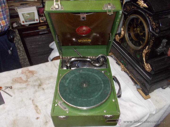 Gramófonos y gramolas: Gramola Goldring funcionando - Foto 19 - 50235375