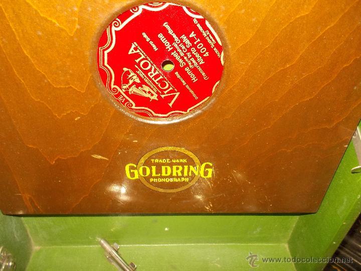 Gramófonos y gramolas: Gramola Goldring funcionando - Foto 20 - 50235375
