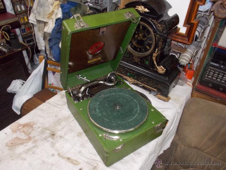 Gramófonos y gramolas: Gramola Goldring funcionando - Foto 22 - 50235375