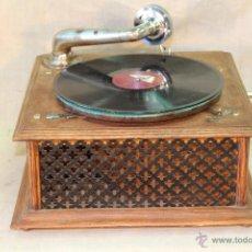 Gramófonos y gramolas: ESTUPENDO GRAMOFONO ANTIGUO PATE. Lote 56246122