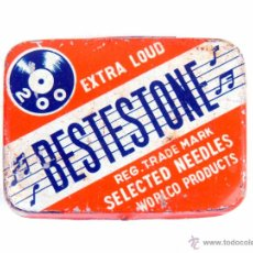 Gramófonos y gramolas: CAJITA DE AGUJAS GRAMOFONO - BESTESTONE - SELECTED NEEDLES BOX . Lote 52837192
