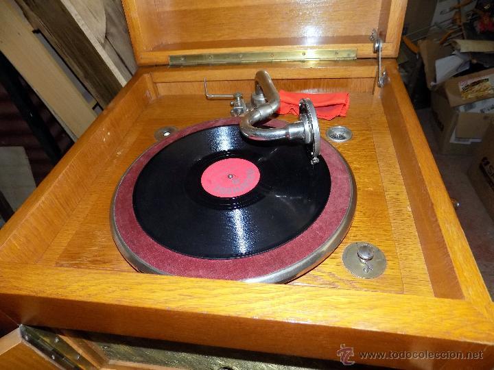 Gramófonos y gramolas: gramofono de mueble, funcionando, buen estado - Foto 6 - 52934478