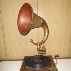 Gramófonos y gramolas: UNICO E IMPRESIONANTE GRAMOFONO MODERNISTA 72 CM SUPER EXCLUSIVO MAGNIFICO SONIDO P.V.P.2999 EUROS. Lote 52964842