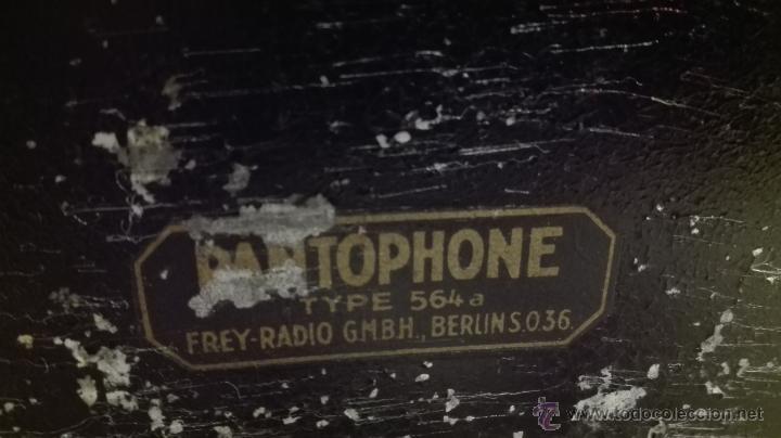 Gramófonos y gramolas: ANTIGUO GRAMÓFONO ELÉCTRICO MARCA PANTOPHONE TYPE 564a FREY-RADIO GMBH., BERLIN S.0.36. - Foto 4 - 53041354