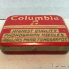 Gramófonos y gramolas: CAJA DE AGUJAS DE GRAMOLA Y GRAMOFONO COLUMBIA. Lote 53874223