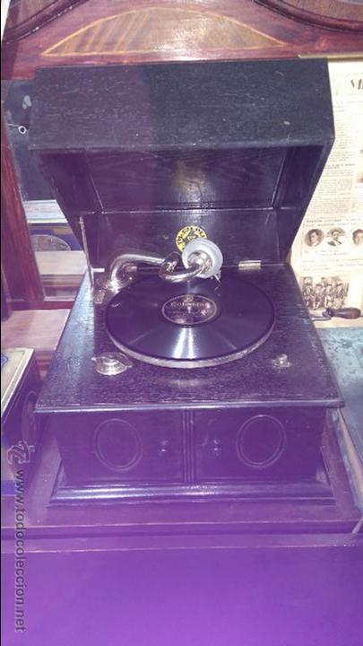 ANTIGUO GRAMOFONO ORIGINAL TH.CIEPLIK. (Radios, Gramófonos, Grabadoras y Otros - Gramófonos y Gramolas)