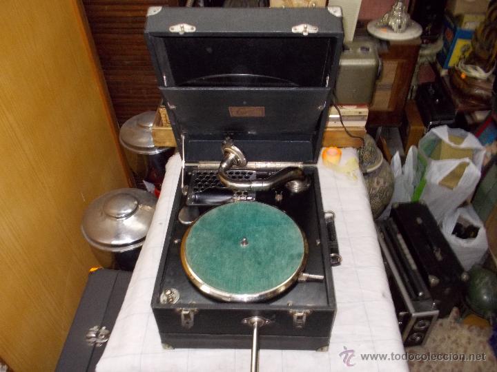 GRAMOLA LIMANIA FUNCIONANDO (Radios, Gramófonos, Grabadoras y Otros - Gramófonos y Gramolas)