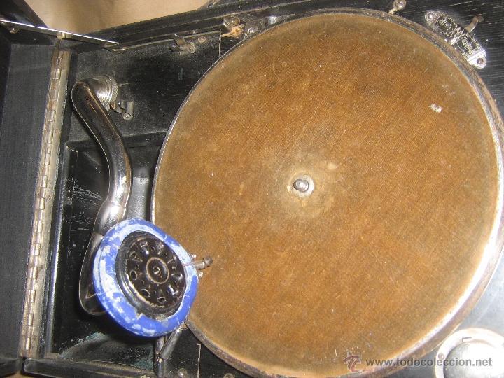Gramófonos y gramolas: GRAMOFONO DE MALETA DE LA MARCA APOLLO - Foto 8 - 26830744