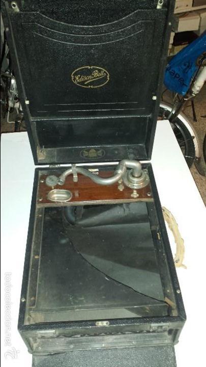CAJA GRAMOLA ELECTRON (Radios, Gramófonos, Grabadoras y Otros - Gramófonos y Gramolas)