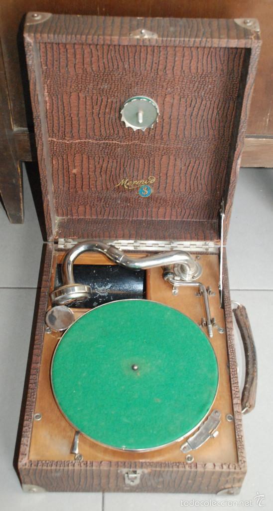ANTIGUO GRAMÓFONO DE MALETA (Radios, Gramófonos, Grabadoras y Otros - Gramófonos y Gramolas)