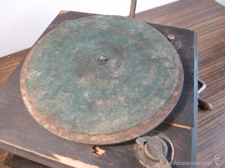Gramófonos y gramolas: gramofono con trompa - Foto 3 - 57225326