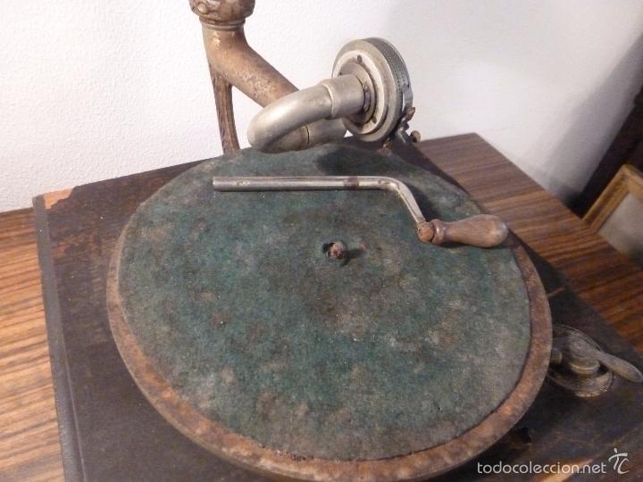 Gramófonos y gramolas: gramofono con trompa - Foto 22 - 57225326
