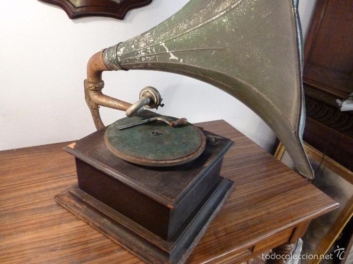 Gramófonos y gramolas: gramofono con trompa - Foto 32 - 57225326