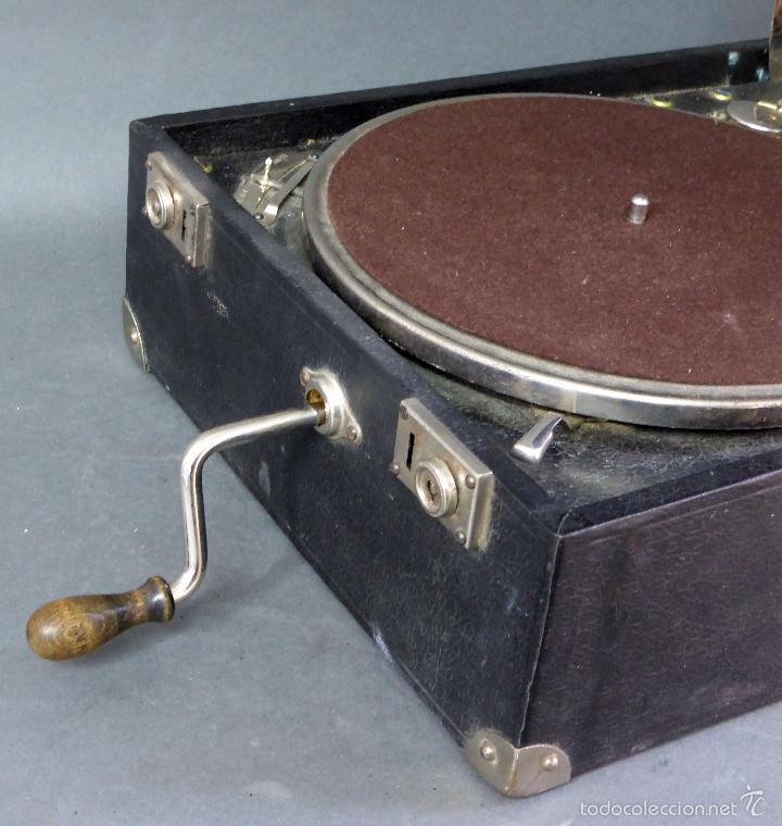 Gramófonos y gramolas: Icáfono gramófono Caba Ureña Madrid años 20 con maleta Estado de marcha caja agujas - Foto 3 - 57603617