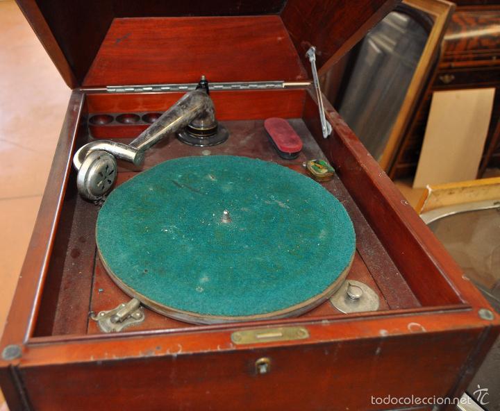 Gramófonos y gramolas: ANTIGUA GRAMOLA DE SOBREMESA DE LA VOZ DE SU AMO - Foto 2 - 57663439