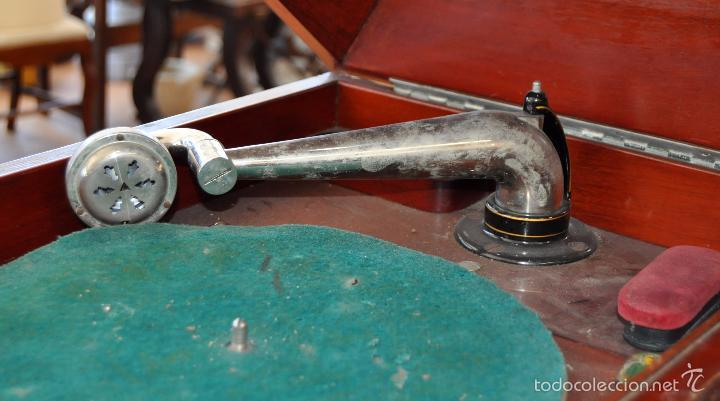 Gramófonos y gramolas: ANTIGUA GRAMOLA DE SOBREMESA DE LA VOZ DE SU AMO - Foto 3 - 57663439