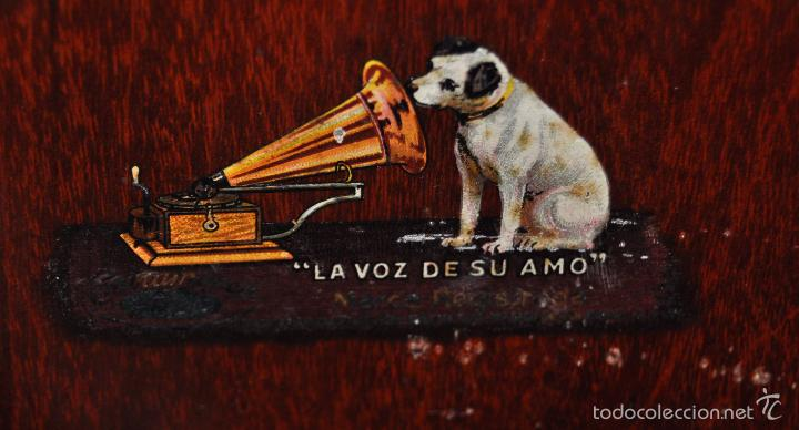 Gramófonos y gramolas: ANTIGUA GRAMOLA DE SOBREMESA DE LA VOZ DE SU AMO - Foto 12 - 57663439
