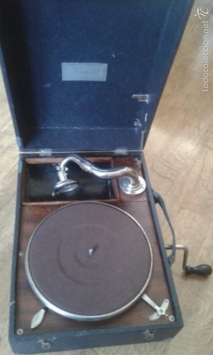 Gramófonos y gramolas: Gramola Gramófono portatil - Foto 2 - 58082125