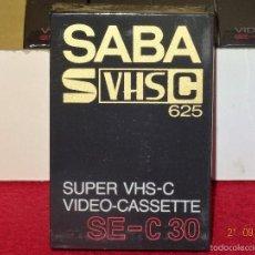 Gramófonos y gramolas: CAJA DE 10 CASETES PRECINTADOS SABA SUPER VHS C 30 SE-C30. Lote 60927447