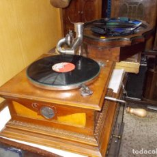 Gramófonos y gramolas: GRAMOFONO DE LA VOZ DE SU AMO ORIGINAL. Lote 63770559