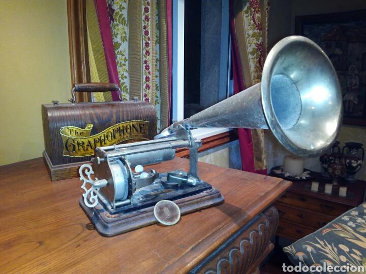 THE GRAPHOPHONE COLUMBIA FONOGRAFO TOTALMENTE ORIGINAL / PHONOGRAPH (Radios, Gramófonos, Grabadoras y Otros - Gramófonos y Gramolas)