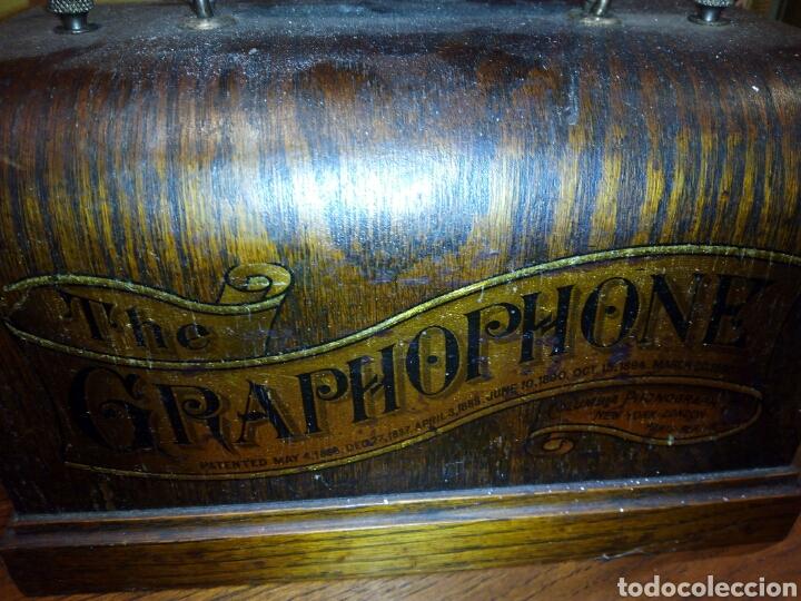Gramófonos y gramolas: THE GRAPHOPHONE COLUMBIA FONOGRAFO TOTALMENTE ORIGINAL / PHONOGRAPH - Foto 3 - 63815194