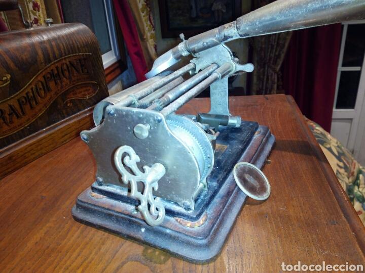 Gramófonos y gramolas: THE GRAPHOPHONE COLUMBIA FONOGRAFO TOTALMENTE ORIGINAL / PHONOGRAPH - Foto 4 - 63815194