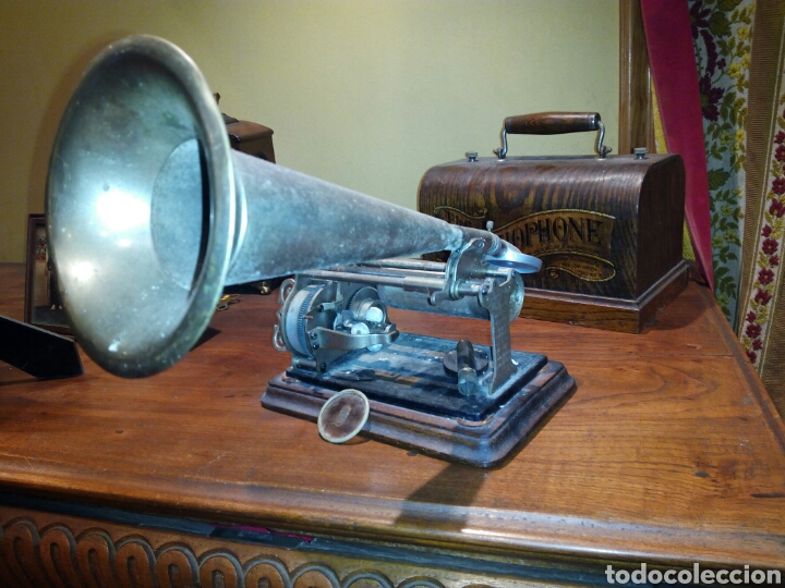 Gramófonos y gramolas: THE GRAPHOPHONE COLUMBIA FONOGRAFO TOTALMENTE ORIGINAL / PHONOGRAPH - Foto 7 - 63815194