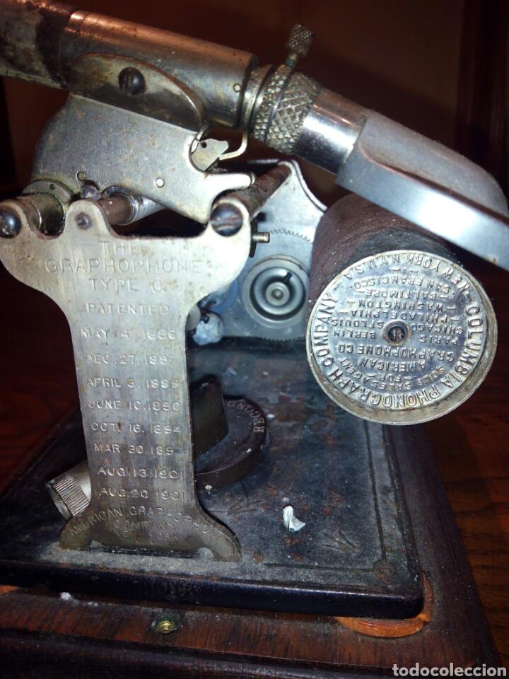Gramófonos y gramolas: THE GRAPHOPHONE COLUMBIA FONOGRAFO TOTALMENTE ORIGINAL / PHONOGRAPH - Foto 8 - 63815194