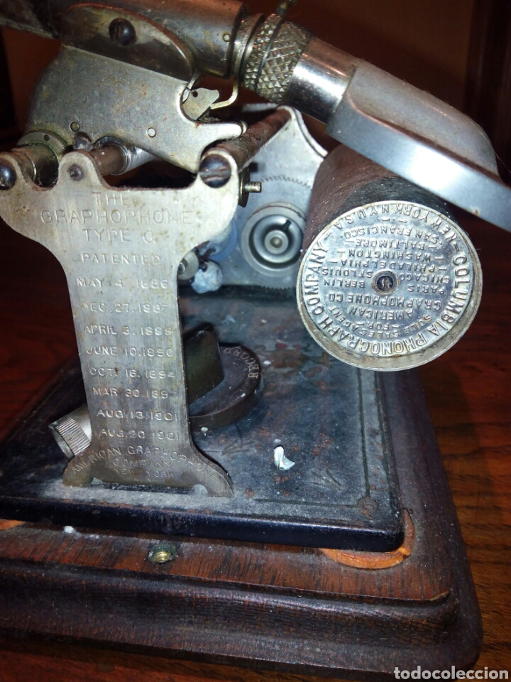 Gramófonos y gramolas: THE GRAPHOPHONE COLUMBIA FONOGRAFO TOTALMENTE ORIGINAL / PHONOGRAPH - Foto 9 - 63815194