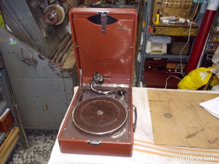 Gramófonos y gramolas: Gramola Thorens funcionando - Foto 11 - 172684208