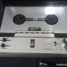 Gramófonos y gramolas: MAGNETOFONO GRUNDIG TK1400 CON MICROFONO Y DOS CINTAS. Lote 66174422