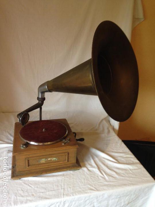 Gramófonos y gramolas: PIEZA DE COLECCIONISTA. GRAMOLA MARCA IDEAL. - Foto 2 - 66853438