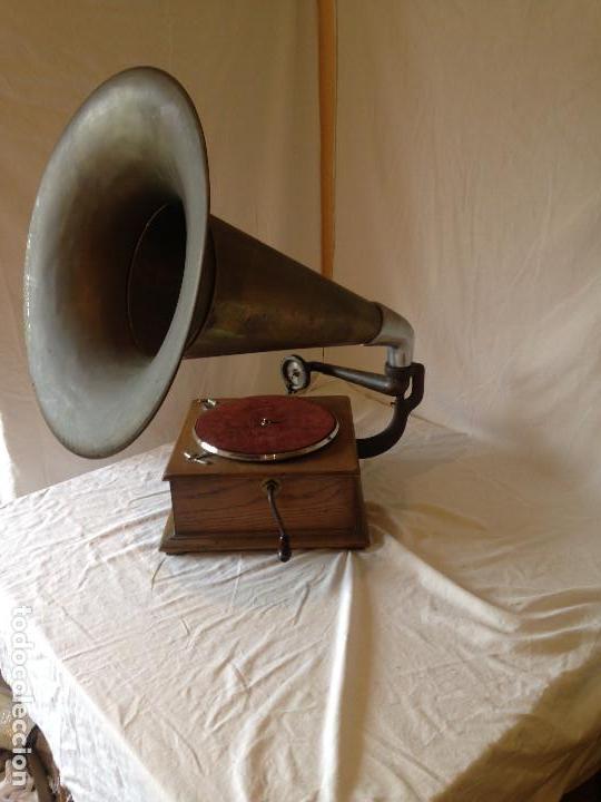 Gramófonos y gramolas: PIEZA DE COLECCIONISTA. GRAMOLA MARCA IDEAL. - Foto 4 - 66853438