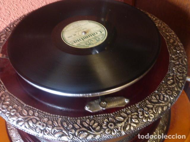 Gramófonos y gramolas: GRAMOFONO O GRAMOLA HIS MASTER´S VOICE FUNCIONANDO - Foto 6 - 144076336
