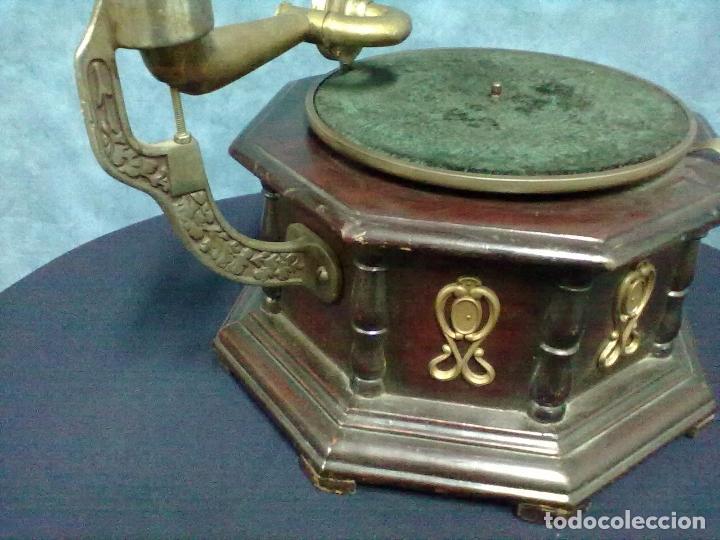 Gramófonos y gramolas: GRAMOFONO OCTOGONAL PARA ARREGLAR - Foto 5 - 69586001