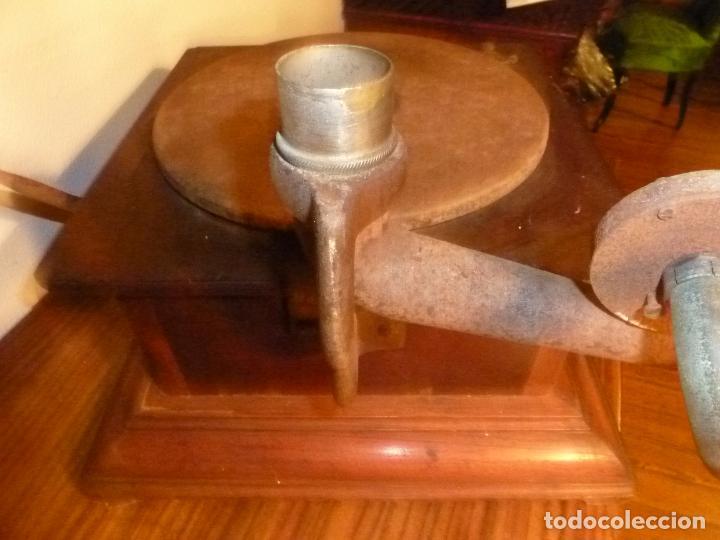 Gramófonos y gramolas: gramofono con trompa - Foto 2 - 70063485