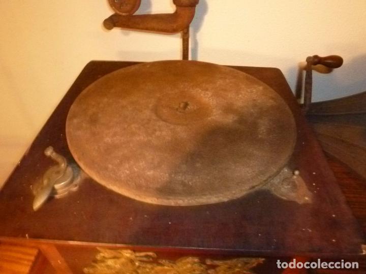 Gramófonos y gramolas: gramofono con trompa - Foto 20 - 70063485