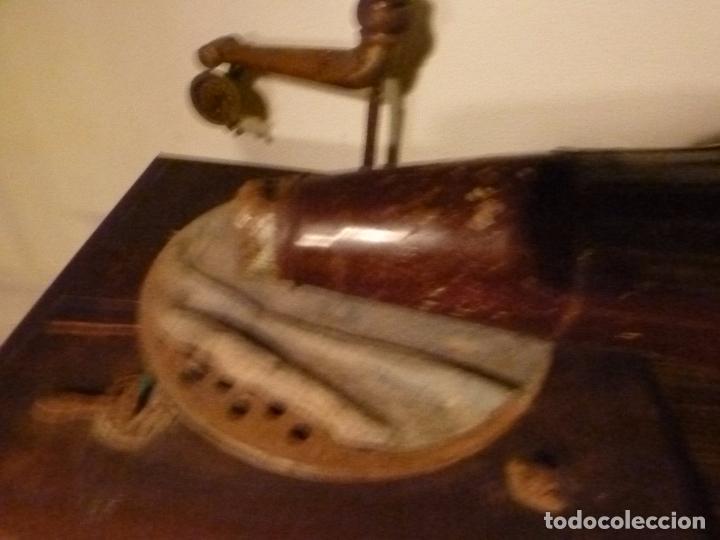 Gramófonos y gramolas: caja de gramofono con trompa - Foto 5 - 70064349