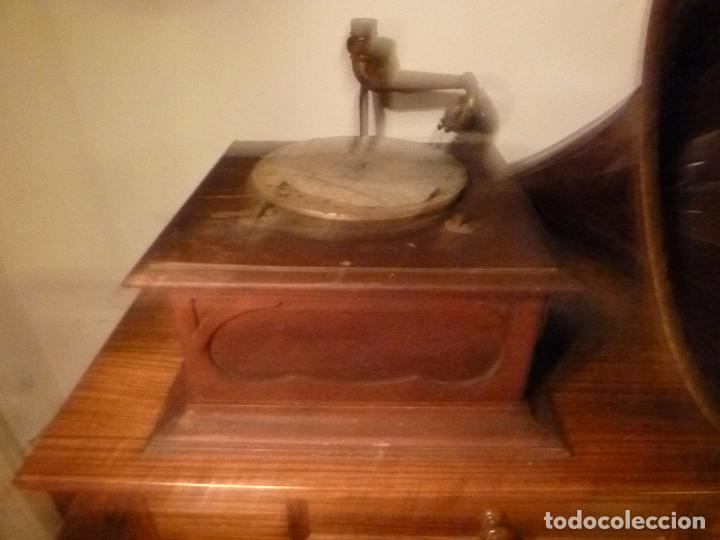 Gramófonos y gramolas: caja de gramofono con trompa - Foto 7 - 70064349
